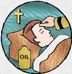 signs and symbols of anointing of the sick Anointing of the sick- s: the symbols used in anointing of the sick are oil, the sign of the cross, and the forehead the oil is used because of its properties used.