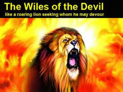Don't be scared of the devil!....Jesus kicked His butt!!!...but be vigilant, sharp and on your toes.  Pray always!!!